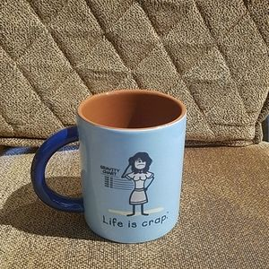 Life Is Crap Multicolor Coffee Mug Cup